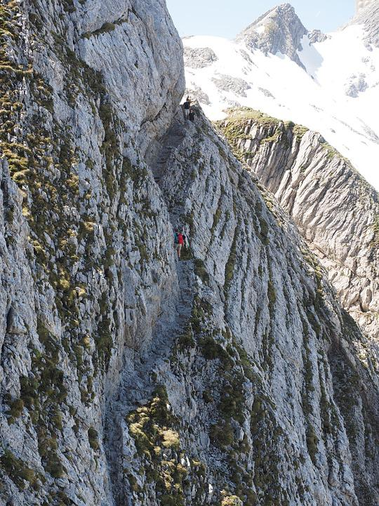 Säntis, Climbing, The Rope, Rock, Exposed, Scramble
