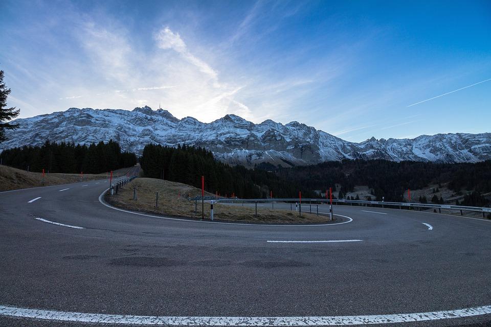 Säntis, Switzerland, Serpentine, Mountain Pass, Curve