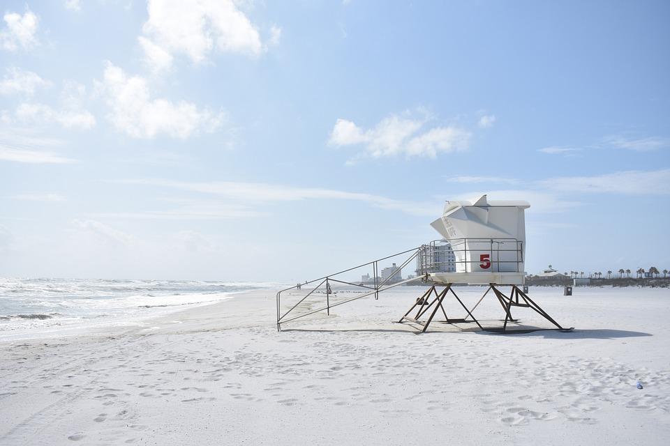 Beach, Safety, Lifeguard, Coast, Summer, Safe, Tower