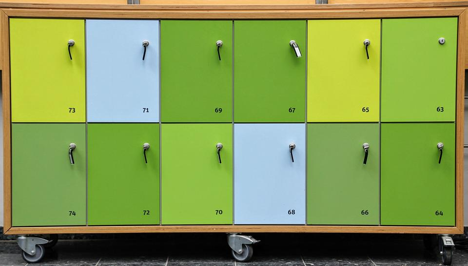 Locker, Closing Compartments, Waste Tray Read, Safe