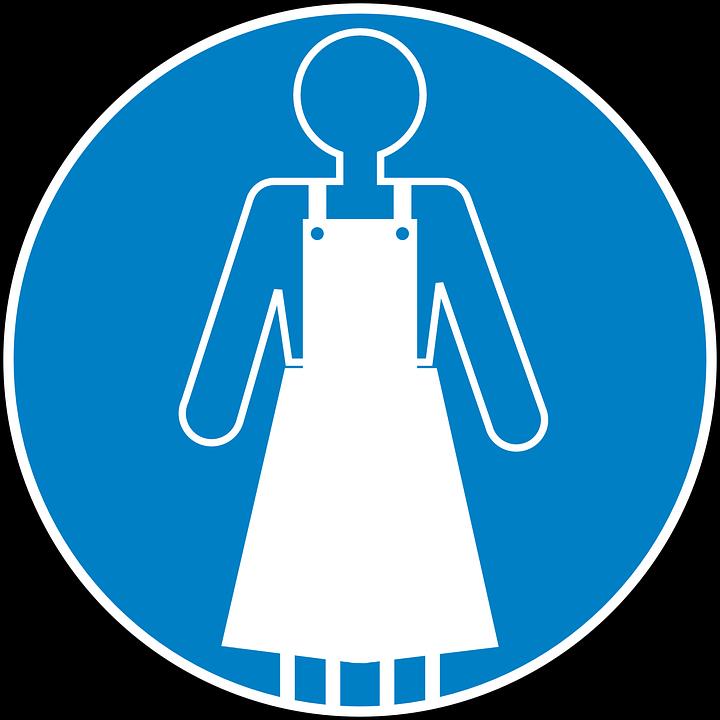 Apron, Safety, Blue, Sign, Symbol, Icon, Blue Safety