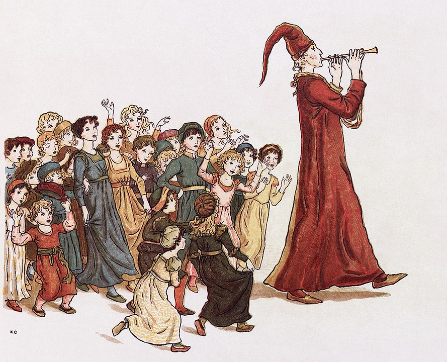 Sage, The Pied Piper Of Hamelin, Drawing, Flautist