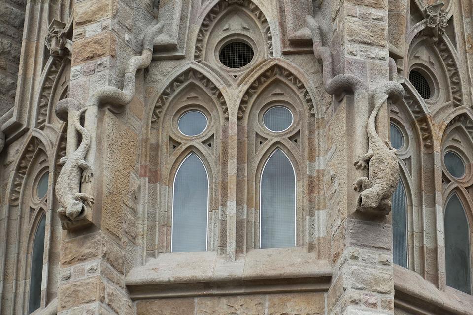 Barcelona, Spain, Church, Sagrada Familia, Fun, Facade