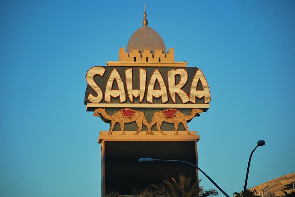 Las Vegas, Sahara Casino, Landmark, Architecture