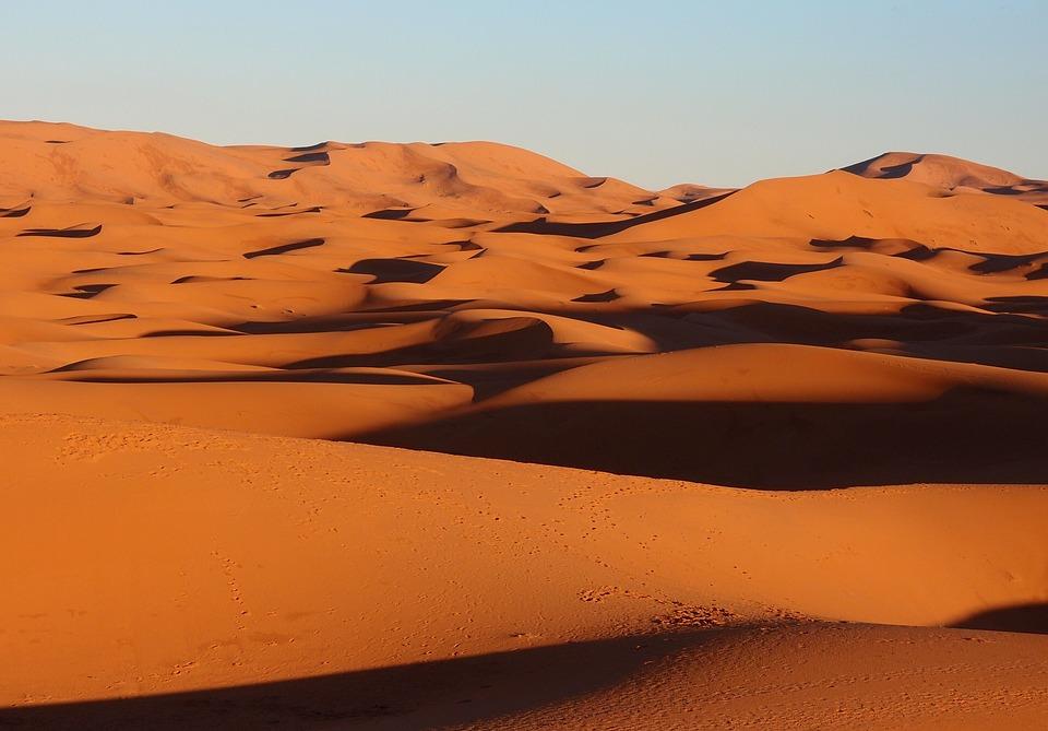 Morocco, Sahara Desert, Massive Sand Dunes