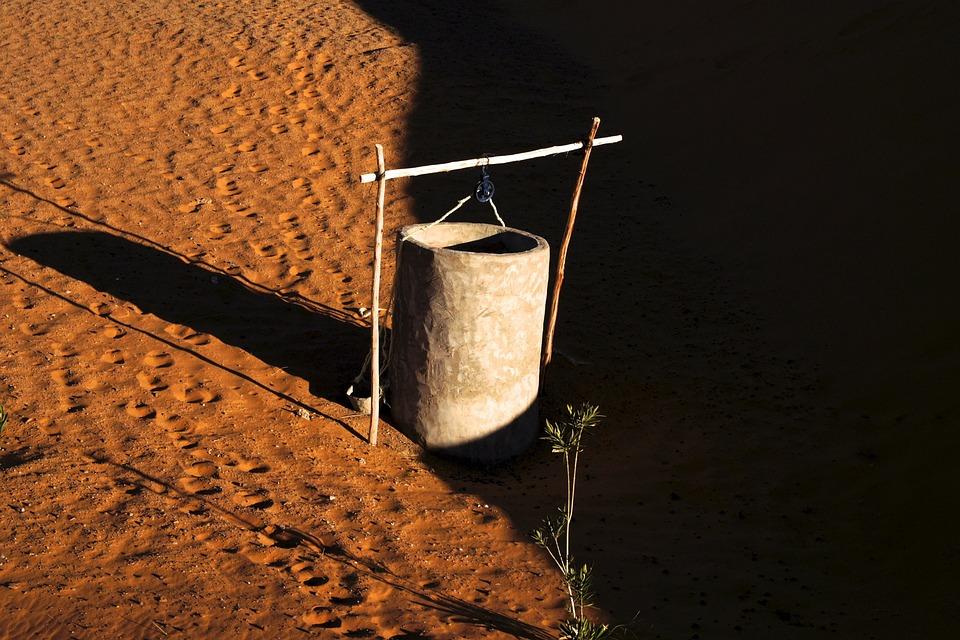Fountain, Desert, Water, Sahara, Abfrika