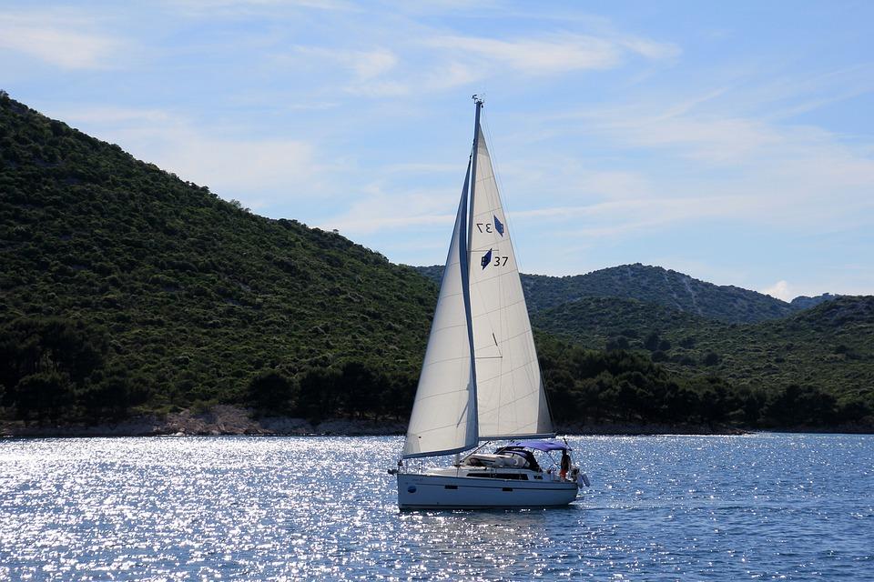 Sail, Ship, Sailing Boat, Sailing Vessel, Blue, Sea