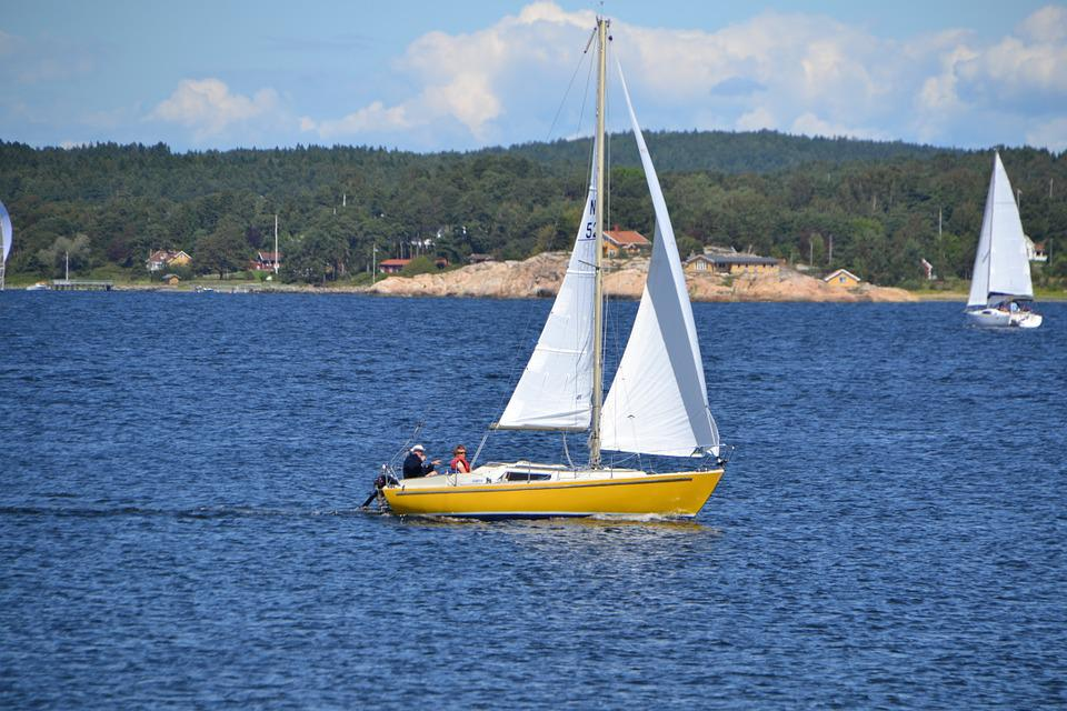 Sail Boat, Sea, Norway