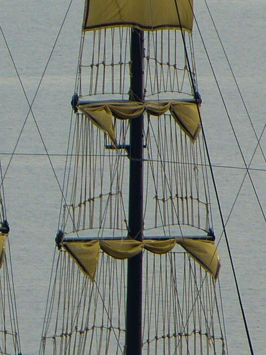 Sail, Mast, Dew, Canvas, Sailing Vessel, Sailing Boat