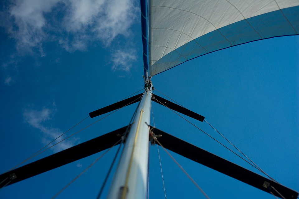 Sail, Sky, Sea, Clouds, Blue, Boat, Water, Lake