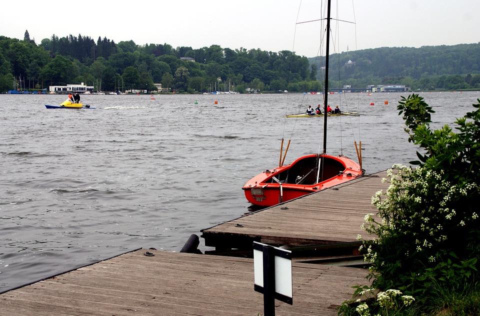 Water, Boats, Lake, Rowing Boat, Sail, Baldeneysee, Eat