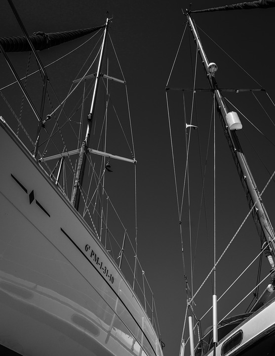Leisure, Sport, Sail, Sail Masts, Rigging, Perspective