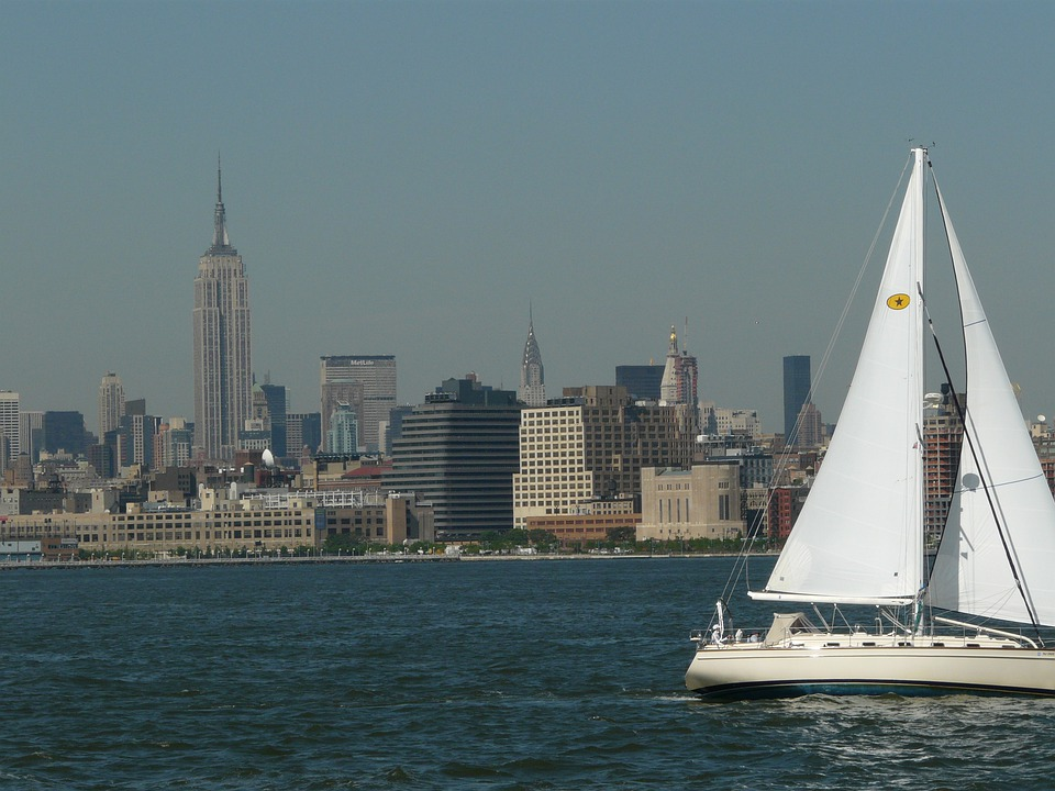 Hudson River, Sailboat, Sailing, Sail, New York City