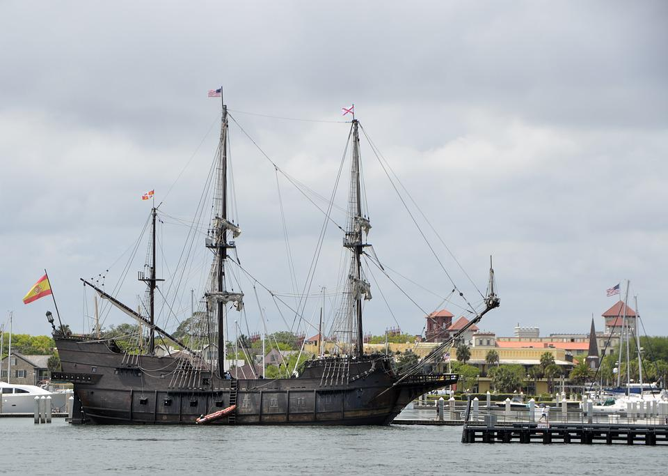 Old, Galleon Ship, Ship, Galleon, Nautical, Sail