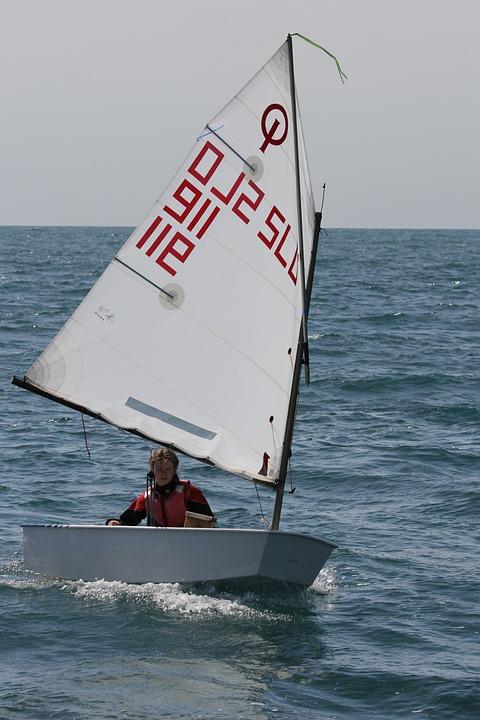 Sailing, Optimist, Ioda, Sun, Sea, Sail, Nautical, Boat