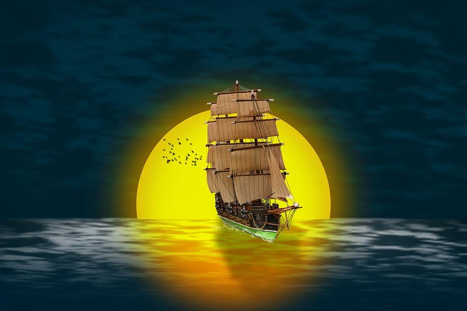 Manipulation, Sailboat, Sail, Ship, Sailing Vessel