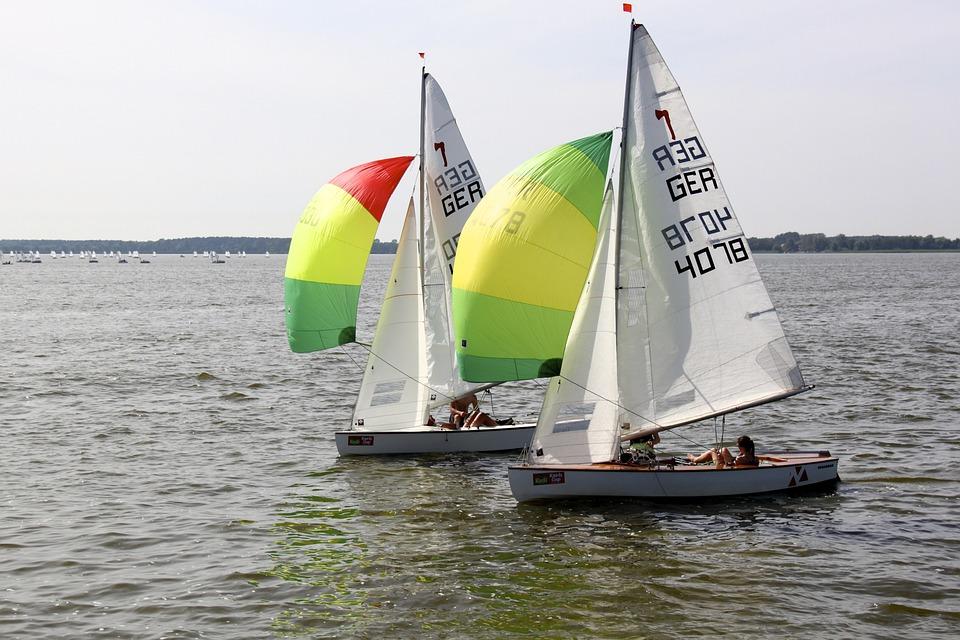 Sail, Sailing Boat, Spinnaker, Regatta, Ribnitz Ut