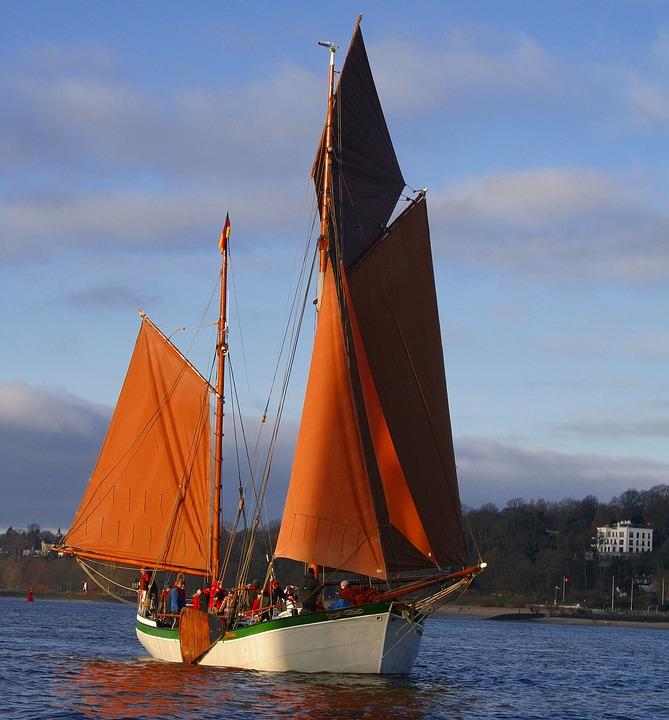 Sailing Boat, Ship, Sail, Yacht, Waters