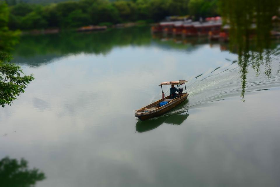 Jiangnan, Watertown, The Scenery, Ship, Lake, Sail