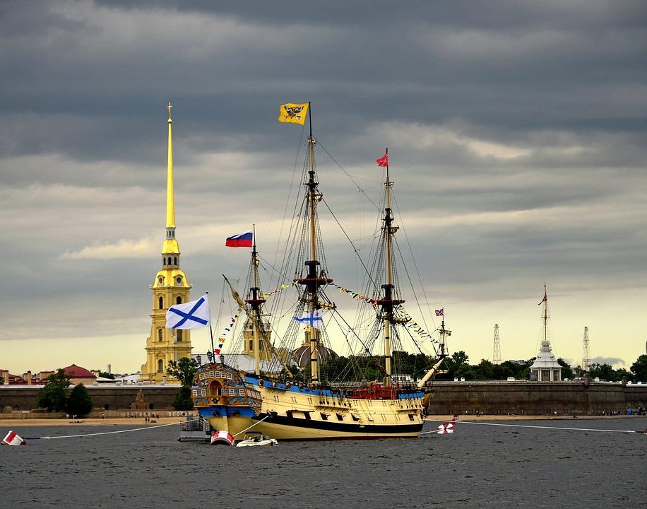 Ship, Sailboat, Neva, Water, Sail, Wave, Sailboats