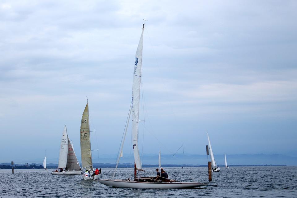 Lake Constance, Lake, Ships, Sail, Water, überlingen