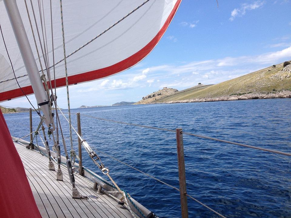 Sail, Sailing Boat, Spin Acker, Croatia