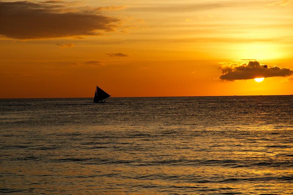 Sail, Sunset, Sea, Sailing Ship, Boat, Yacht, Summer