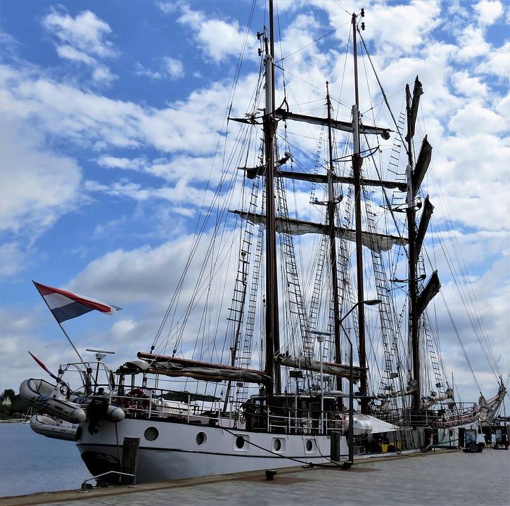 Ship, Yacht, Port, Sailing Vessel, Sail, Water