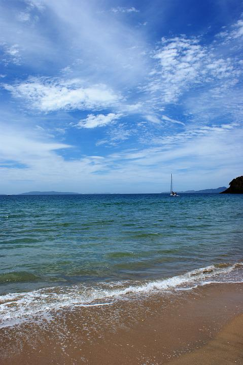 Sailboat, Beach, Sky