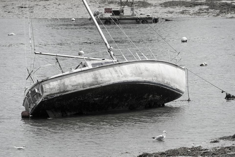 Sailboat, Tide, Sea, Navigation, Browse, Maree Basse