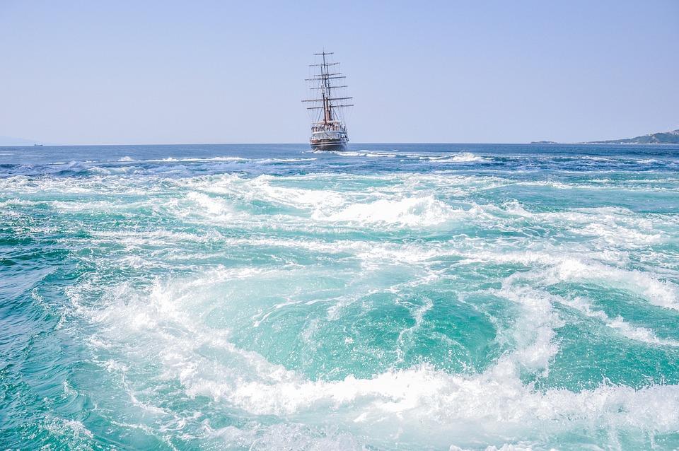Vortex, The Sea, Sailboat, Japan
