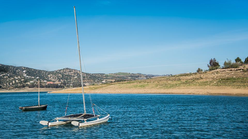 Boat, Sailboat, They Will Taste, Marsh, Dawn, Sky, Blue