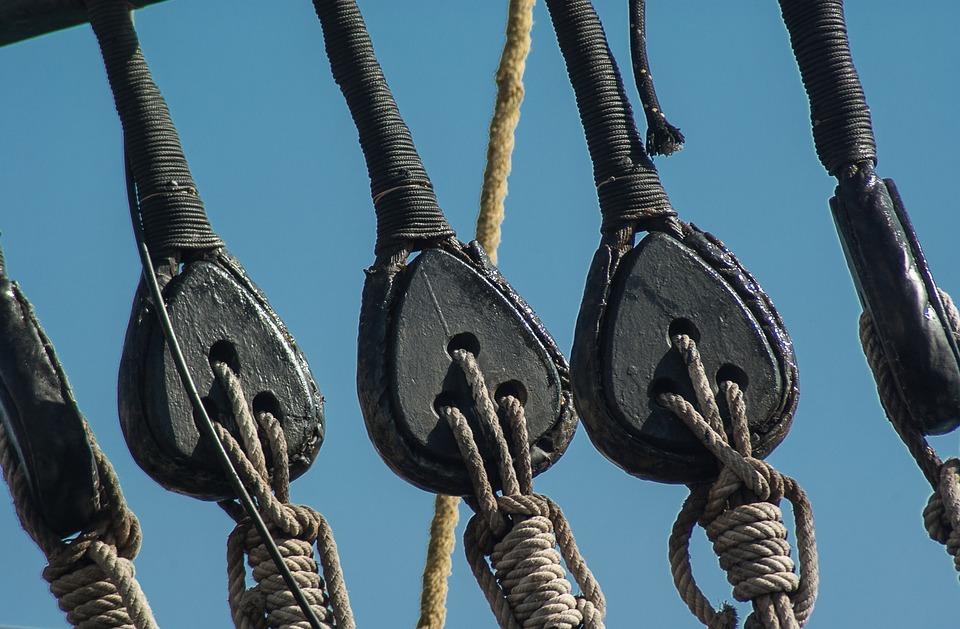 Boat, Pulleys, Ropes, Sailboat, Rigging, Sailing Vessel