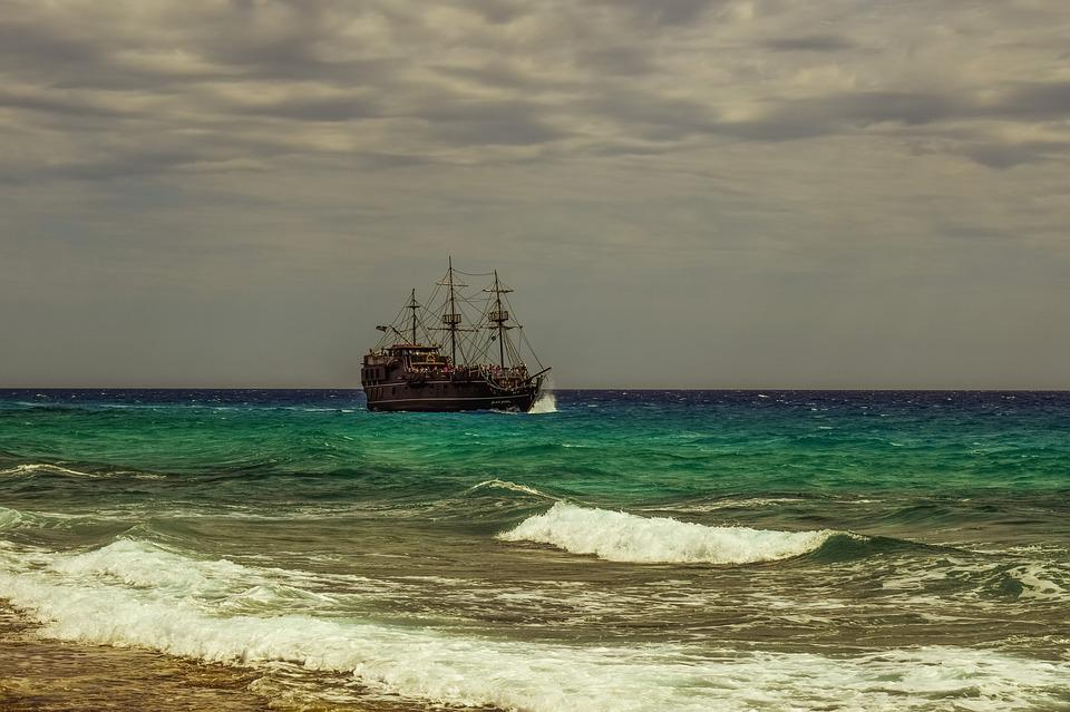 Ship, Sea, Waves, Sailboat, Cruise, Cloudy, Weather