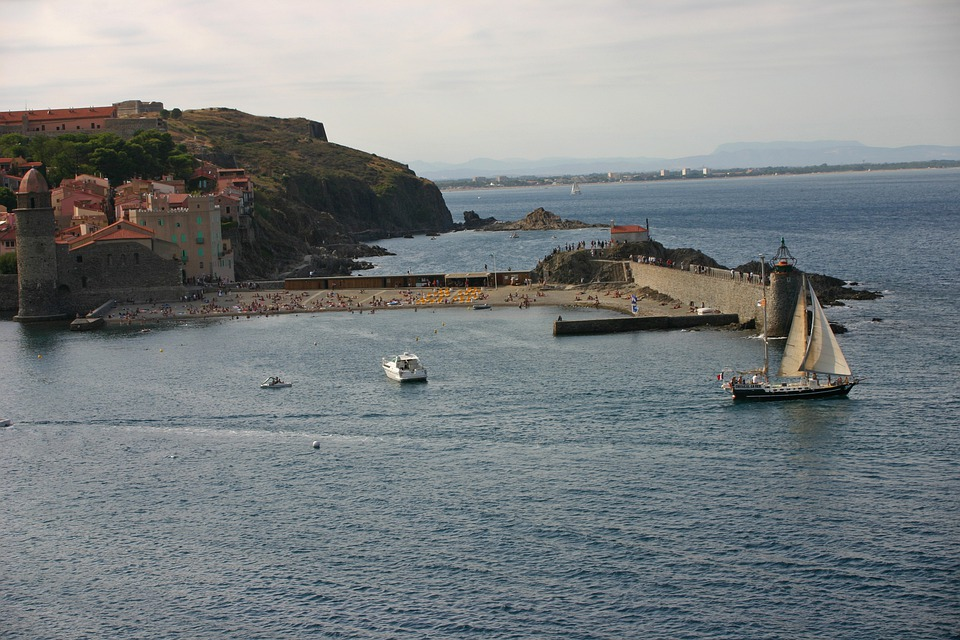 Collioure, Sea, Sailboat