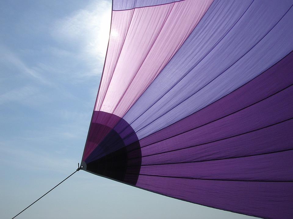 Sailing, Sailboat, Violet