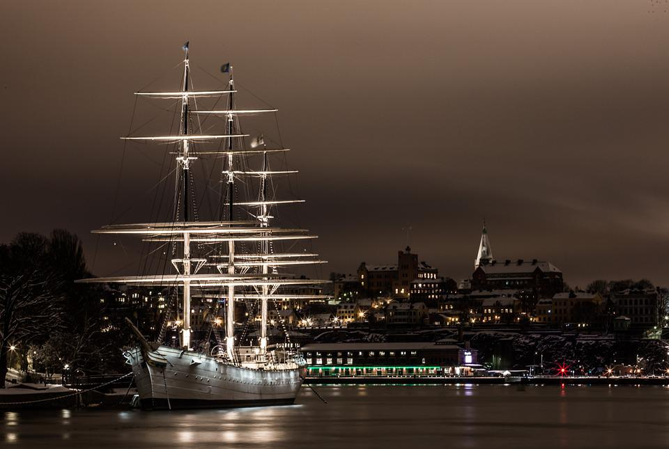 Sailboat, Water, Stockholm, Ship, Sweden, Hostels