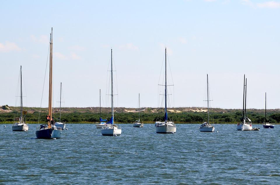 Sailboats, Moored, River, Nature, Landscape, Boat