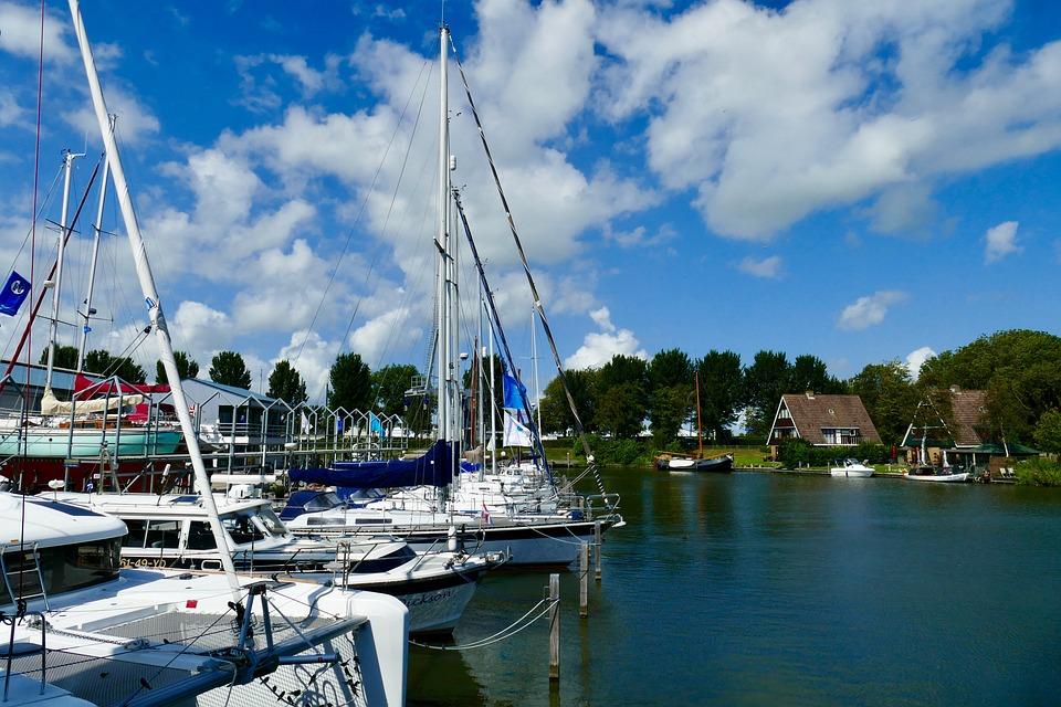 Port, Boats, Sailboats, Summer, Sailing, Water, Holiday