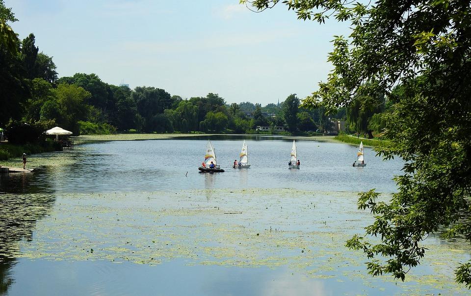 Lake, Summer, Water, Boat, Sailboats