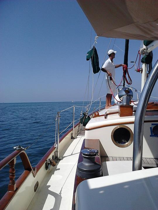Sailing Boat, Sea, Sailing, Summer, Calm Sea, Blue