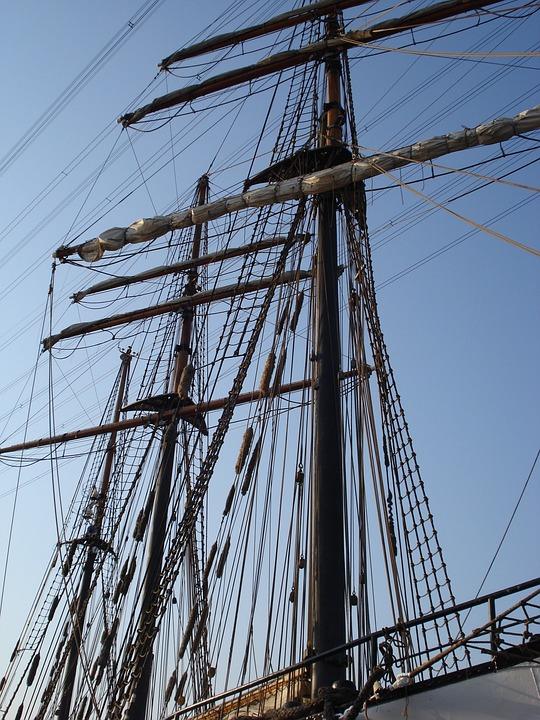 Sailing Boat, Ship, Sail, Ship Mast, Dew
