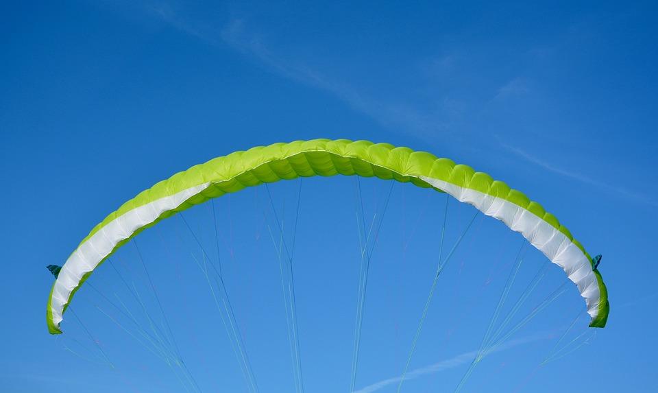 Sailing Paragliding, Veil Yellow Green, Paraglider Jody