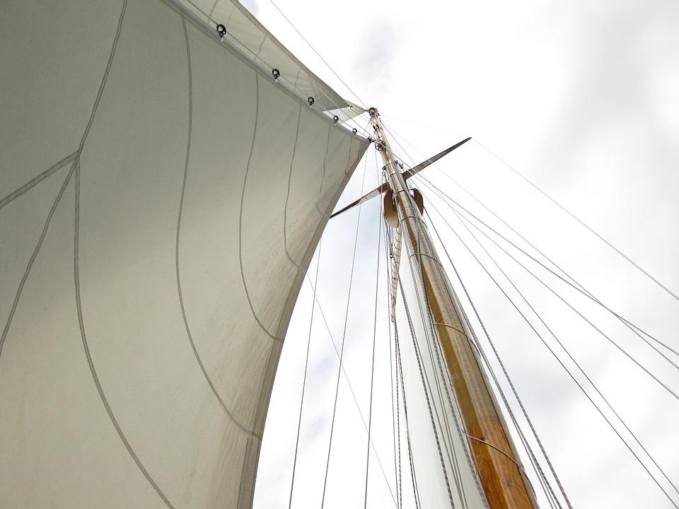 Sail, Mast, Boat, Sailing