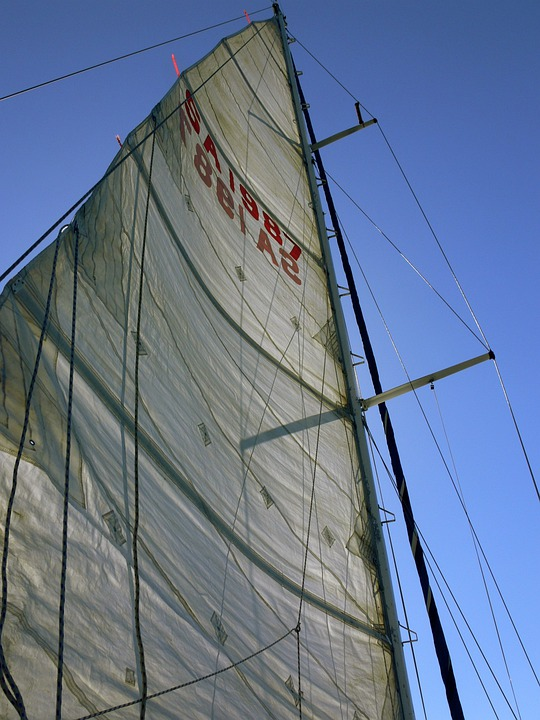 Sail, Yacht, Wind, Sea, Boat, Sailing