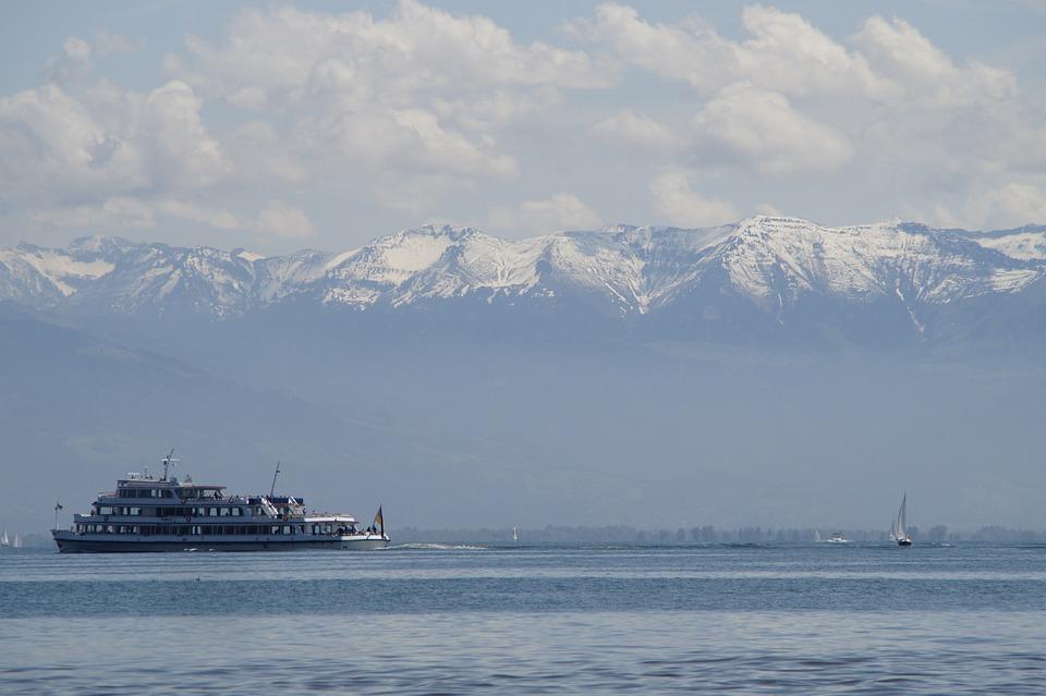 Sailing Ships, Lake Constance, Alpine, Panorama