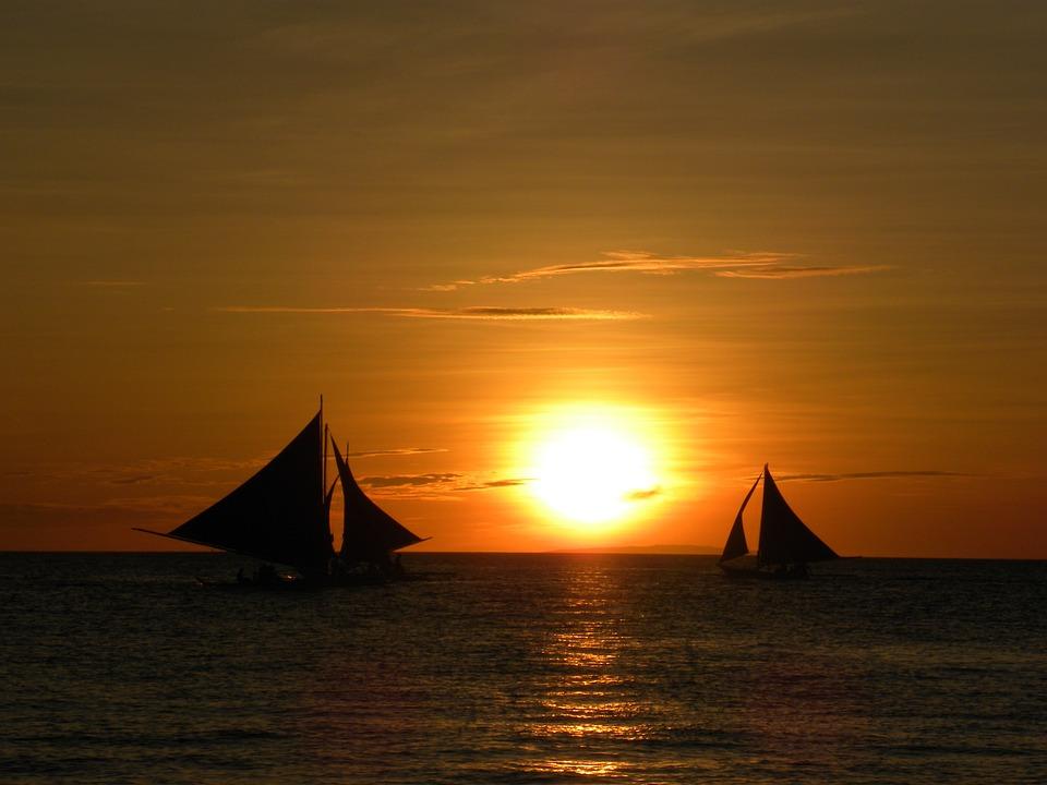 Sunset, Sailing, Boats, Sea, Travel, Vacation, Sun