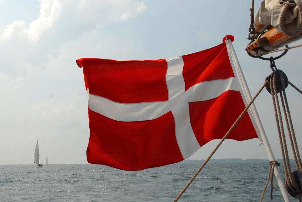 Flag, Sailing Vessel, Denmark, Sea