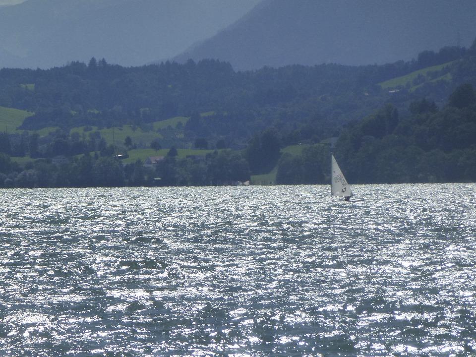 Lake, Sailing Vessel, Landscape