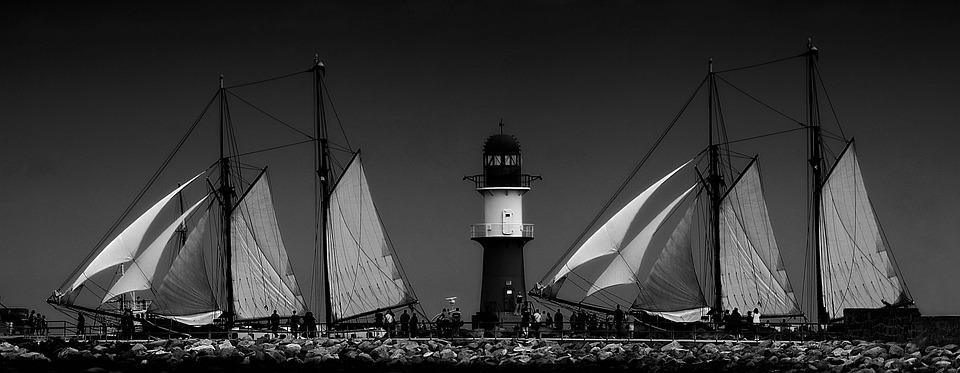 Sailor, Baltic Sea, Beach, Sea, Sailing Vessel, Transit